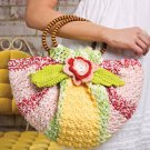 W497 Crochet PATTERN ONLY Citrus Blossom Purse Bag Pattern