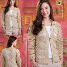 W500 Crochet PATTERN ONLY Macrame Effect Cardigan Sweater Pattern