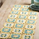 W501 Crochet PATTERN ONLY Sunny Skies Table Runner Scarf Pattern