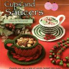 W502 Crochet PATTERN ONLY Holiday and Peppermint Cup and Saucer Patterns