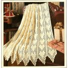 W506 Filet Crochet PATTERN ONLY Hearts Aplenty Afghan Throw Pattern