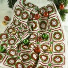 W507 Crochet PATTERN ONLY Another Christmas Wreath Afghan Throw Pattern