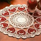 W511 Crochet PATTERN ONLY Ring of Love Valentine Heart Doily Pattern