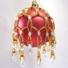 W536 Bead PATTERN ONLY Beaded Queen Mary Christmas Ornament Cover Pattern