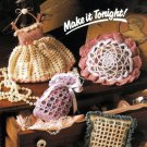 W539 Crochet PATTERN ONLY 4 Scented Sachets Patterns Bag Square Dress Round
