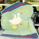 W540 Crochet PATTERN ONLY Flock of Country Geese Afghan Coverlet Pattern