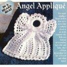 W548 Crochet PATTERN ONLY Sweet Angel Applique Christmas Ornament Pattern