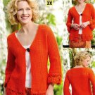 W562 Crochet PATTERN ONLY Tangerine Dream Cardigan Sweater Pattern