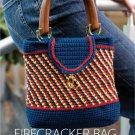 W565 Crochet PATTERN ONLY Firecracker Bag Tapestry Style Purse Pattern
