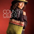 W568 Crochet PATTERN ONLY Felted Country Club Hat & Purse Pattern