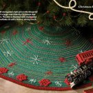W579 Crochet PATTERN ONLY Traditional Christmas Tree Skirt Pattern