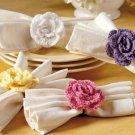 W583 Crochet PATTERN ONLY Flower Fancy Scarft Tie or Napkin Ring Pattern