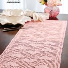 W584 Filet Crochet PATTERN ONLY Hearts-a-Plenty Table Runner Pattern Valentine