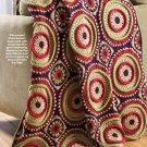 W589 Crochet PATTERN ONLY Ringtoss Circle Afghan Pattern