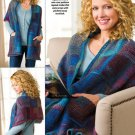 W597 Crochet PATTERN ONLY Cozy Reader's Shawl with Pockets Pattern