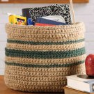 W600 Crochet PATTERN ONLY Classroom Accessories Basket Pattern