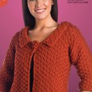W601 Crochet PATTERN ONLY Ladies Sienna Jacket Pattern