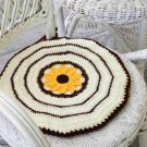 W605 Crochet PATTERN ONLY Sunflower Chair Pad Pattern