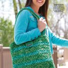 W608 Crochet PATTERN ONLY Green Fields Tote Bag Satchel Pattern
