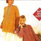 W612 Knit PATTERN ONLY Garden Inspired Smock Tunic & Laticework Cardigan Sweater