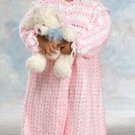 W615 Crochet PATTERN ONLY Sugar & Spice Little Girl Robe Pattern
