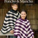 W621 Crochet PATTERN ONLY Wavelengths Poncho & Mancho Patterns