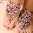 W631 Crochet PATTERN ONLY Crochet Barefoot Sandals Foot Jewelry Pattern