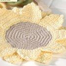 W642 Crochet PATTERN ONLY Sunflower Dishcloth Pattern
