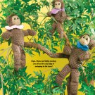 W643 Crochet PATTERN ONLY Monkey Family Doll Toy Mom Dad Baby Patterns