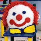 W644 Crochet PATTERN ONLY Clown Face Pillow Pattern
