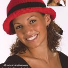 W646 Crochet PATTERN ONLY Brimmed Bow Hat Pattern