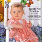 W648 Crochet PATTERN ONLY Butterfly Filet Baby Dress Pattern