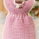 W651 Crochet PATTERN ONLY Pink Pinafore Liquid Soap Cover Pattern