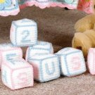 W657 Crochet PATTERN ONLY Baby Blocks Toy Patterns Letters A-Z Numbers 1-0