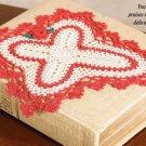 W659 Crochet PATTERN ONLY Holy Cross Doily Pattern Easter