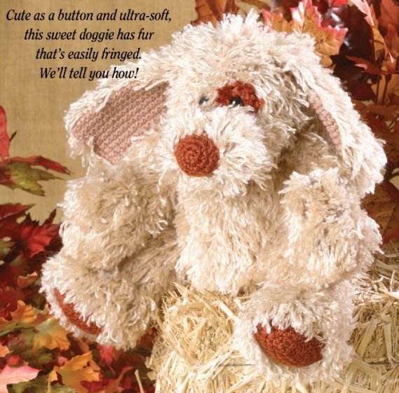 W660 Crochet PATTERN ONLY Scruffy the Fuzzy Dog Toy Doll Pattern