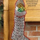 W662 Crochet PATTERN ONLY Nostalgic Christmas Stocking Pattern Beginner!