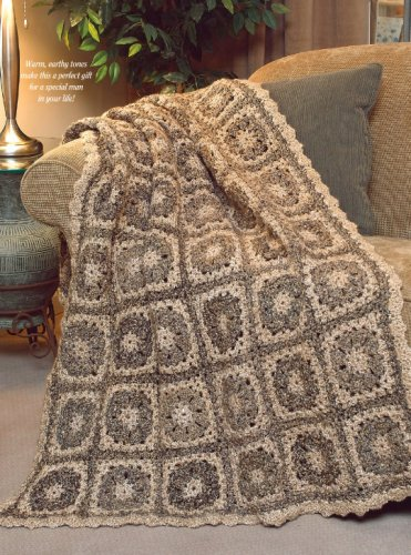 W665 Crochet PATTERN ONLY Winter Tweed Afghan Throw Pattern
