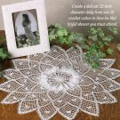 W667 Crochet PATTERN ONLY Lacy Center Ruffles Doily Pattern