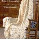 W669 Crochet PATTERN ONLY Bridal Ribbons Afghan Throw Wedding Pattern