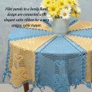 W670 Crochet PATTERN ONLY Braided Ribbon Table Topper Tablecloth Pattern