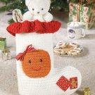 W672 Crochet PATTERN ONLY Gingerbread / Jingle Bell Christmas Stockings Patterns