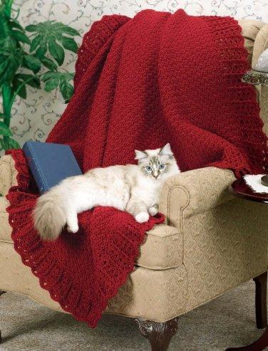 W675 Crochet PATTERN ONLY Easy Elegance Afghan Throw Pattern Beginner!