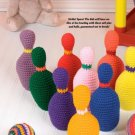 W694 Crochet PATTERN ONLY Bowling Pin Toy Set Pattern