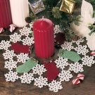 W695 Crochet PATTERN ONLY Stockings & Snowflakes Christmas Doily Pattern