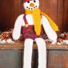 W697 Crochet PATTERN ONLY Shelf-Sitter Snowman Christmas Doll Pattern