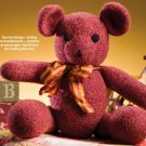 W703 Crochet PATTERN ONLY Felted Teddy Bear Toy Doll Pattern