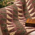 W704 Crochet PATTERN ONLY Tunisian Strip Lap Robe Afghan Pattern
