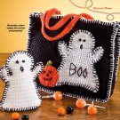 W706 Crochet PATTERN ONLY Halloween Ghost Bag & Puppet Pattern
