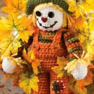 W707 Crochet PATTERN ONLY Scarecrow Wreath Pattern Fall Thanksgiving